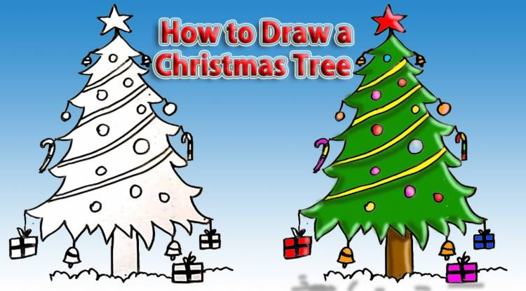 Christmas Images For Drawing.Christmas Drawing Gift Ideas Decorating Tips And Guides